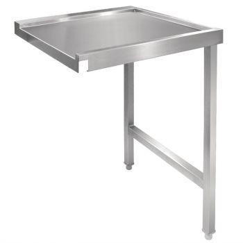 Table de sortie droite pour lave-vaisselle à capot Vogue 600mm
