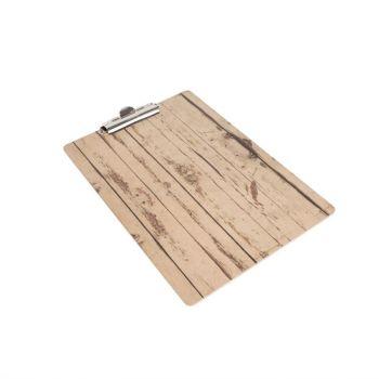 Plaque porte-menu effet bois clair Olympia A4