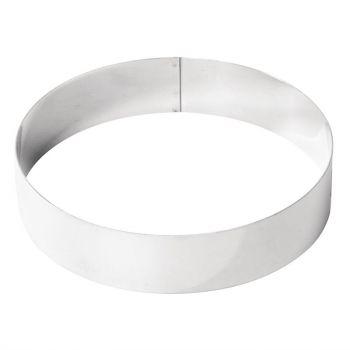 Cercle à mousse inox De Buyer 200 x 45mm