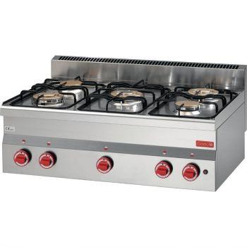 Fourneau gaz à poser 5 feux Gastro M 600 60/90PCG