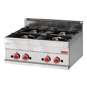 Fourneau gaz à poser 4 feux Gastro M 650 65/70PCG