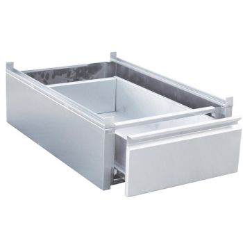 Tiroir inox à monter sur table Gastro M 450 x 580 x 180mm