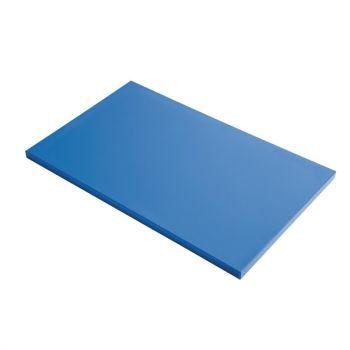 Planche à découper GN1/1 en polyéthylène haute densité Gastro M  bleue
