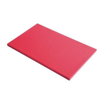Planche à découper GN1/1 en polyéthylène haute densité Gastro M  rouge