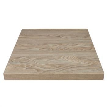 Plateau de table carré Bolero 600mm effet bois clair