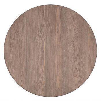 Plateau de table rond Bolero 600mm épaisseur 48mm effet bois gris