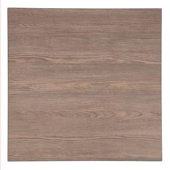 Plateau de table carré Bolero 700mm effet bois gris