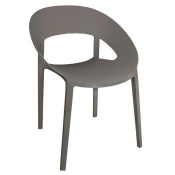 Chaise enveloppante en PP Bolero café lot de 4