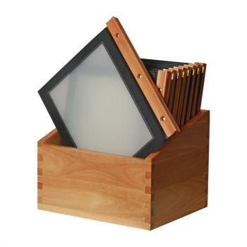 Protège-menus cadre en bois Securit A4 noir