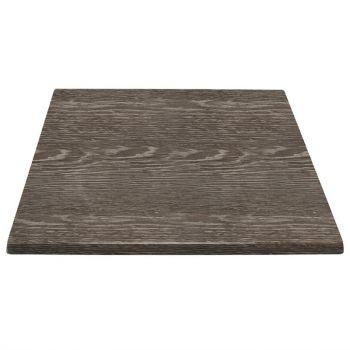 Plateau de table carré Bolero effet bois vieilli 700mm