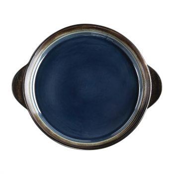 Plateaux à tapas ronds Olympia Nomi bleus 190mm