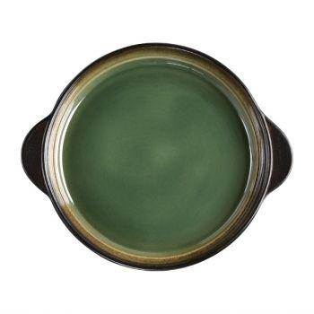 Plateaux à tapas ronds Olympia Nomi verts 190mm