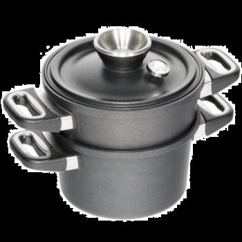 AMT I-1424-SET cuit-vapeur set 24 cm - induction