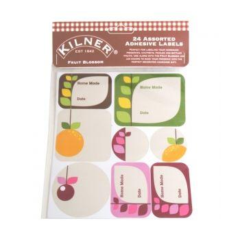 Kilner 0025-422 étiquette Fruit Blossom set de 24 pièces