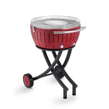LotusGrill XXL 552202 Le Barbecue à charbon de bois sans fumée Rouge écarlate