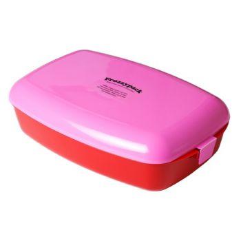 Frozzypack boîte à repas rose 24x15x8cm 1,2L