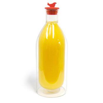 Make My Day bouteille à double paroi 750ml avec un bouchon rouge - MMD-JB01-BK