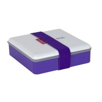 Omami boîte à lunch violette 15x15x4,6cm