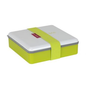 Omami boîte à lunch verte 15x15x4,6cm