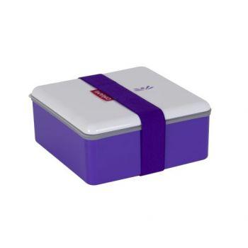 Omami boîte à lunch violette 15x15x6,7cm