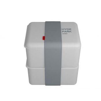 Omami boîte à lunch blanche 2 pièces 12x10x6,7cm