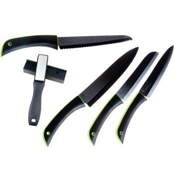Point Virgule Promotion 4-Pieces Couteau en Ceramique+Affûteur