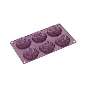 Lurch 85060 Flexi-Form Millefleur Rose, 6 Pièces