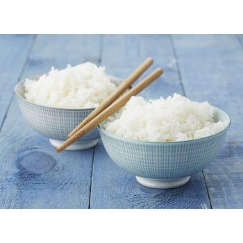 2 bols à riz en aqua et gris avec 2 paires de baguettes