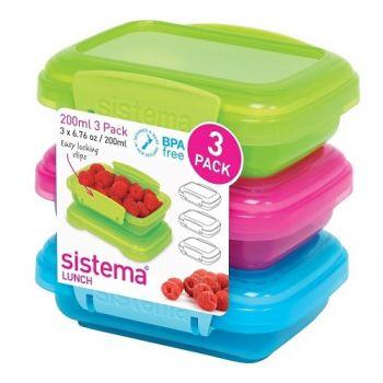 Sistema Lunch Set De 3 Pièces Coloré 200ml