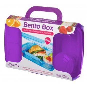 Sistema To Go Bento Box 1.76L avec pot à yaourt violet