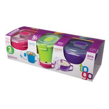 Sistema To Go Multipack Mug à Soupe - Bol à Nouilles - Bol