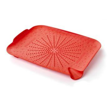 Sinkstation Passoire Plate, 34x27,5x4,5cm, Rouge