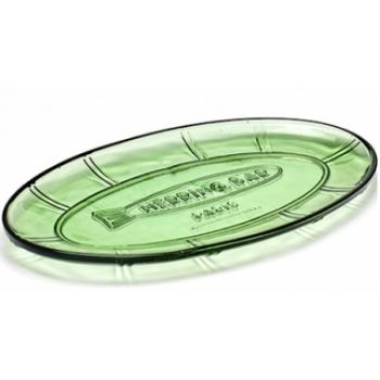 Paola Navone B0816751 Coupe Oval Plate Vert Transparant 31x17xH2
