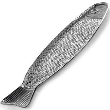 Paola Navone Fish&Fish B9516010 Plat Poisson Aluminium 58x14,4xH1,8cm