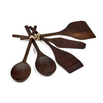 Pascale Naessens PURE B0218107 Outils de cuisine à bois Set de 5 pièces