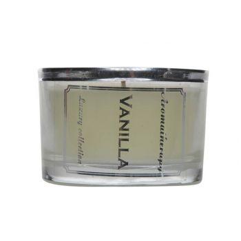 Bougie aroma vanille ivoireD5.7-H8.5CM en verre