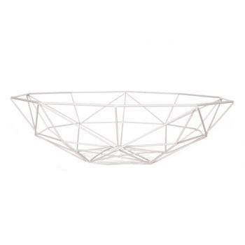 Plat geometrique blanc mÉtal