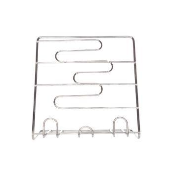 Porte-livre de cuisine alu chrome 25x25x