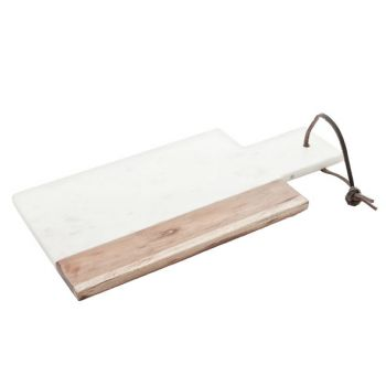 Planche fromage marble blanche 30x15cm