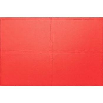 Placemat en cuir rouge 43x30cm