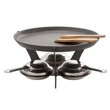Set fondue 7-pcs incl 1plaque a griller