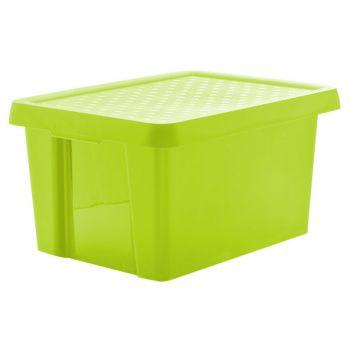 Curver Essentials boites a provisions vert a couvercle 16L