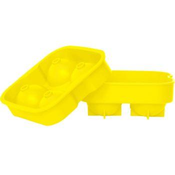 Bac a glacons boules jaune 4pcs d4.5cm