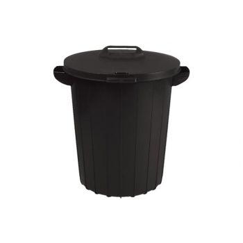 Poubelle 90L Noir 49x49xH60CM