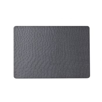 Cosy & trendy placemat cuire look gris