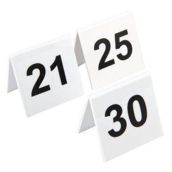 Lot de numéros de table en plastique Olympia 21-30
