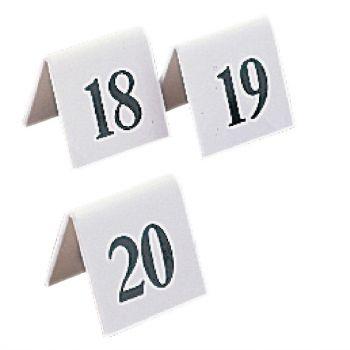 Lot de numéros de table en plastique Olympia 31-40