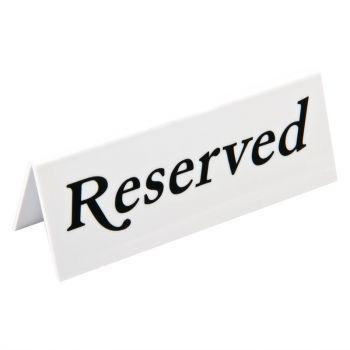 Chevalet de table en plastique Olympia réservé