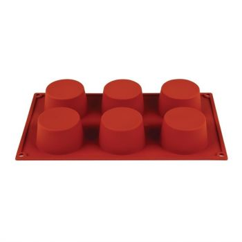 Plaque 6 muffins en silicone Pavoni Formaflex