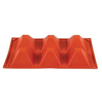 Plaque 6 pyramides en silicone Pavoni Formaflex